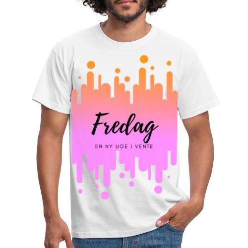 fredag ny uge i vente - Herre-T-shirt