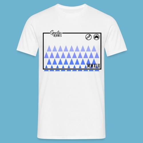 Blue Triangles logo - Men's T-Shirt