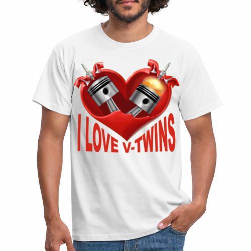 vtwins i love - Men's T-Shirt