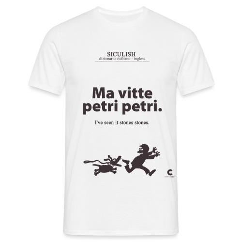 SICULISH Ma vitte petri petri - Maglietta da uomo