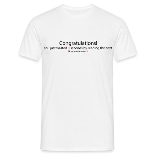 Congratulations - Männer T-Shirt