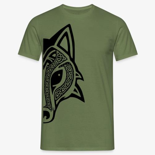 Celtic Wolf half - Men's T-Shirt