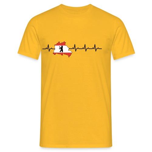 Heartbeat Berlin - Männer T-Shirt