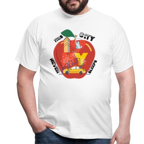 This City Never Sleeps - T-shirt herr
