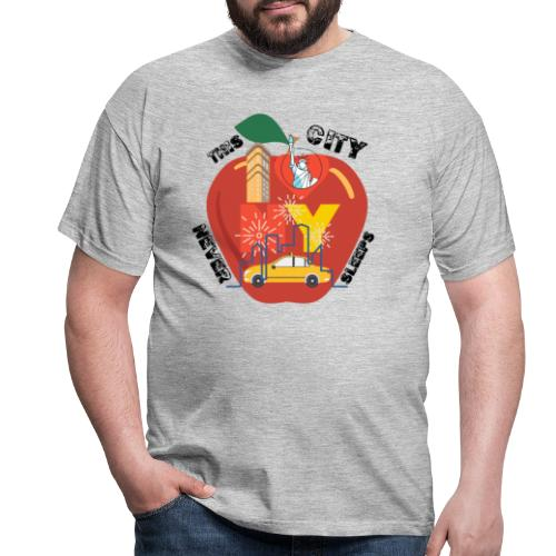 This City Never Sleeps - T-shirt herr