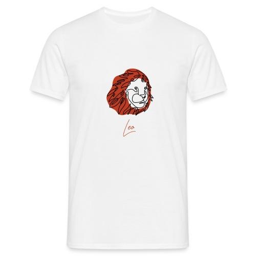 Leo Zodiac Sign Line Art - Männer T-Shirt
