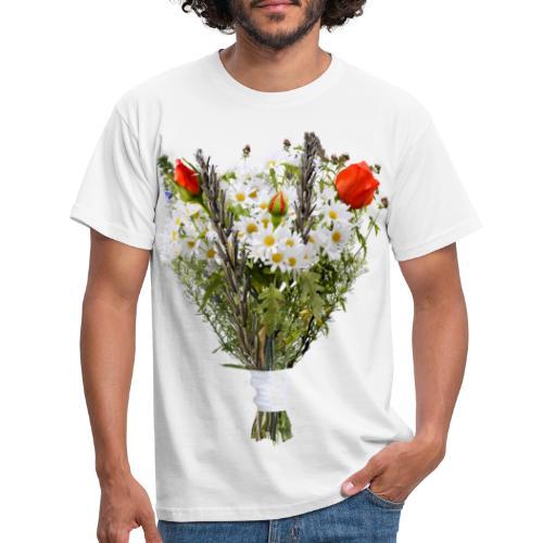 a bouquet of flowers - Men's T-Shirt