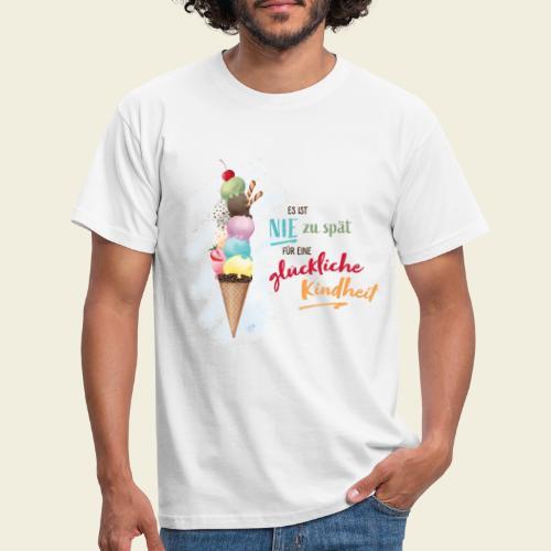 Eis - glückliche Kindheit - Männer T-Shirt