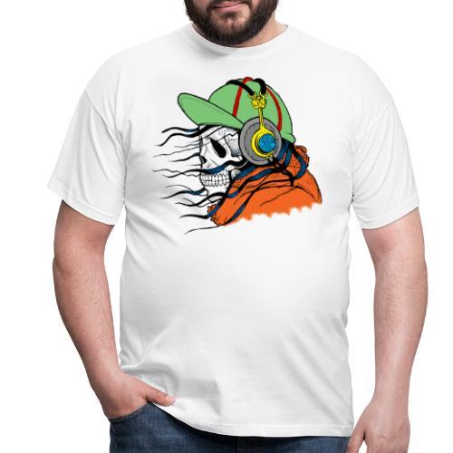 tête de mort avec casquette - T-shirt Homme