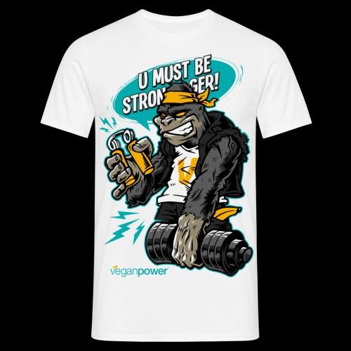 veganpower Gangsta Gorilla - Männer T-Shirt
