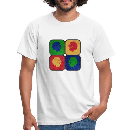 MonkeyShy les 4 lions multicolore symétrique - T-shirt Homme