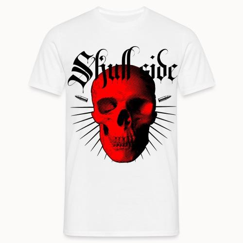 Skull side red - Männer T-Shirt