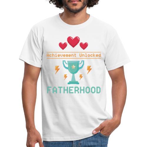 Achievement Unlocked Fatherhood Papa Spruch - Männer T-Shirt