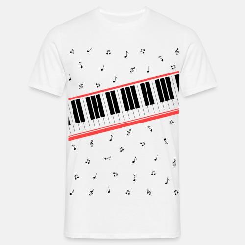 Beat It - Piano und Musiknoten - Männer T-Shirt