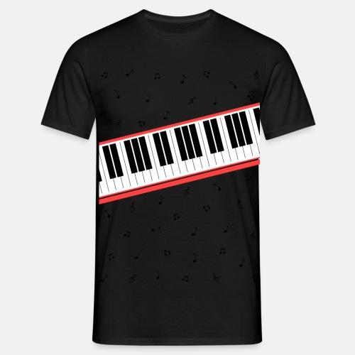 Beat It - piano and sheet music - Men's T-Shirt