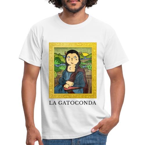 La GatoConda | Humor Gatos | Risas Miau - Camiseta hombre
