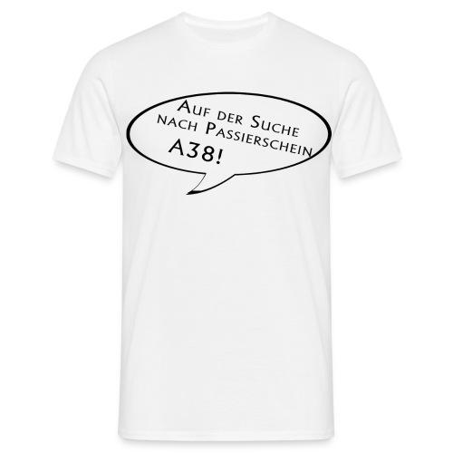 passierscheinshirtschwarz - Männer T-Shirt