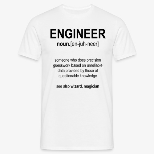 Engineer Def. 1 (Black) - T-shirt Homme