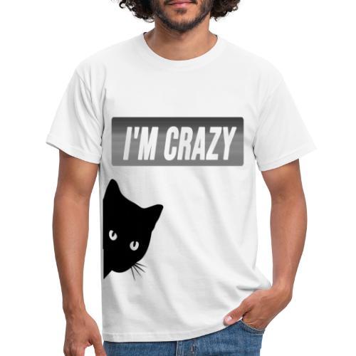 diseño gato con frase - Camiseta hombre