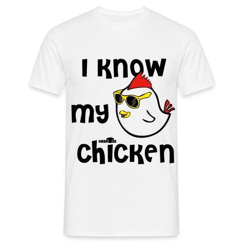 i know my chicken conosco il mio pollo - Maglietta da uomo