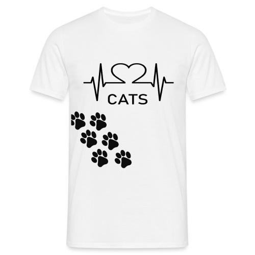 Design für Katzenbesitzer. - Männer T-Shirt