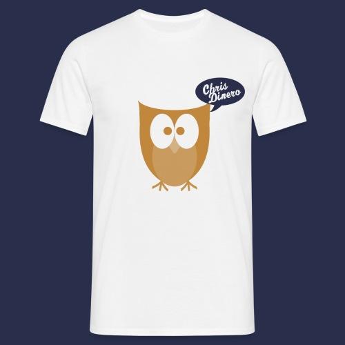 Eule mit blau/weißen Logo - Männer T-Shirt