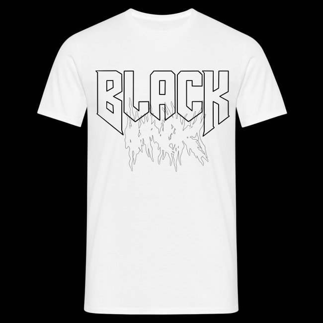 Black ink logo white