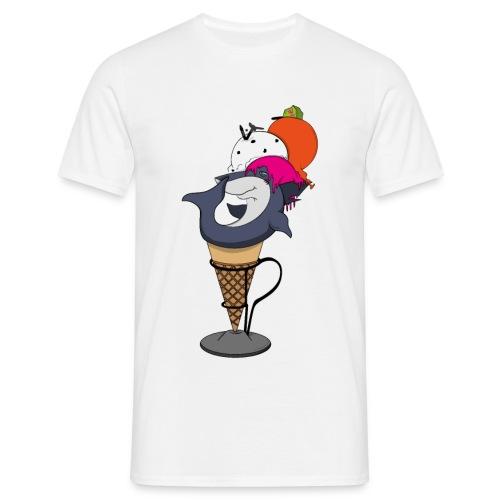 Shark-cream - Maglietta da uomo