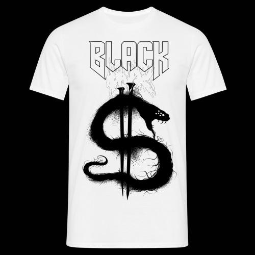 Black ink shadow snake - T-shirt herr