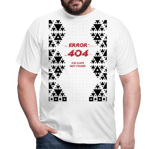 Error404-CGI Cape Not Found - Männer T-Shirt