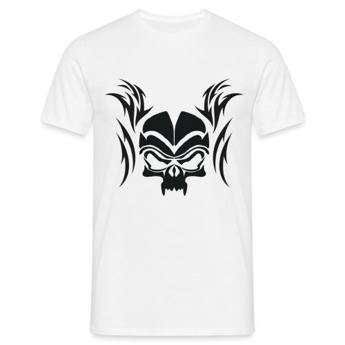 Silhouette Skull & Maori Flame - Men's T-Shirt