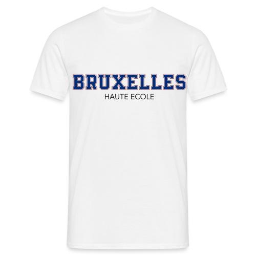 Bruxelles Haute Ecole Bleu/Rouge - T-shirt Homme