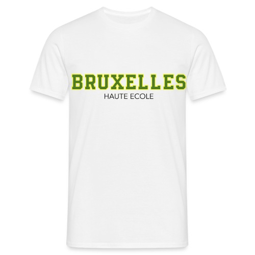 Bruxelles Haute Ecole Vert - T-shirt Homme