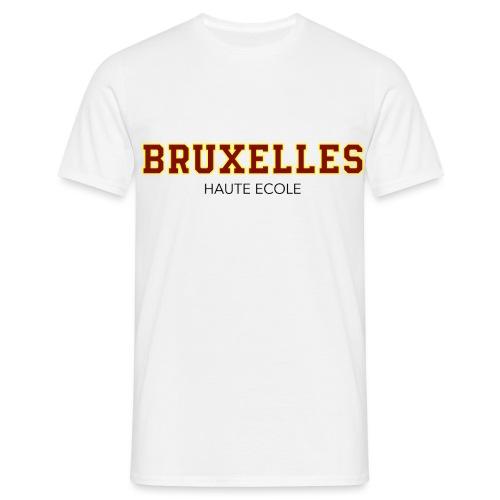 Bruxelles Haute Ecole Rouge - T-shirt Homme