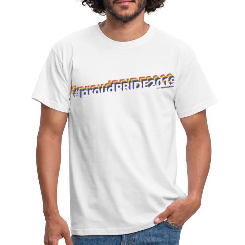 #proudpride2019 white - Männer T-Shirt