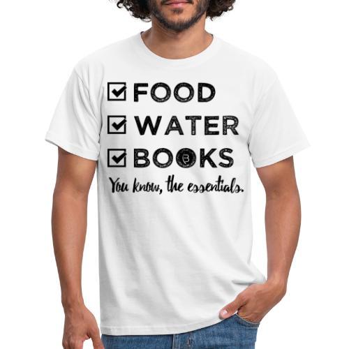 0261 Books, Water & Food - You understand? - Men's T-Shirt