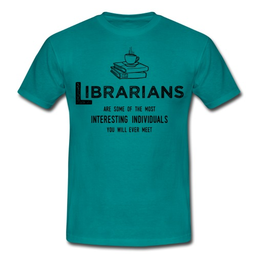0335 Librarian Cool story Funny Funny - Men's T-Shirt