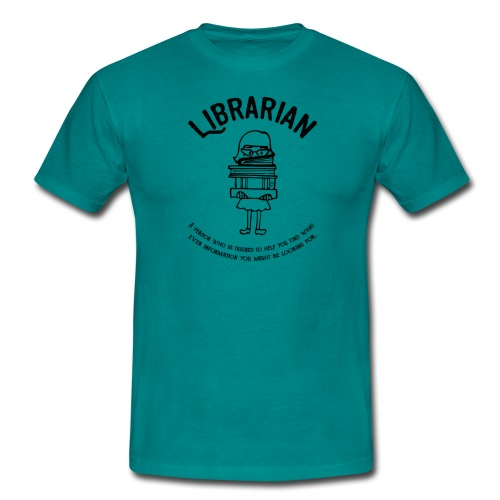 0329 books Funny saying librarian - Men's T-Shirt