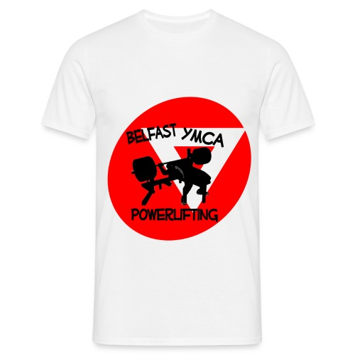 Belfast YMCA Powerlifting Logo - Men's T-Shirt