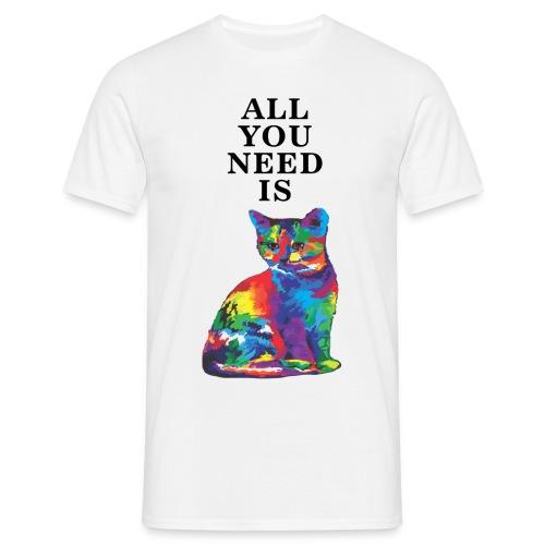 ALL YOU NEED IS CAT - Koszulka męska