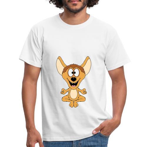 Lustige Hyäne - Yoga - Chillen - Relaxen - Fun - Männer T-Shirt