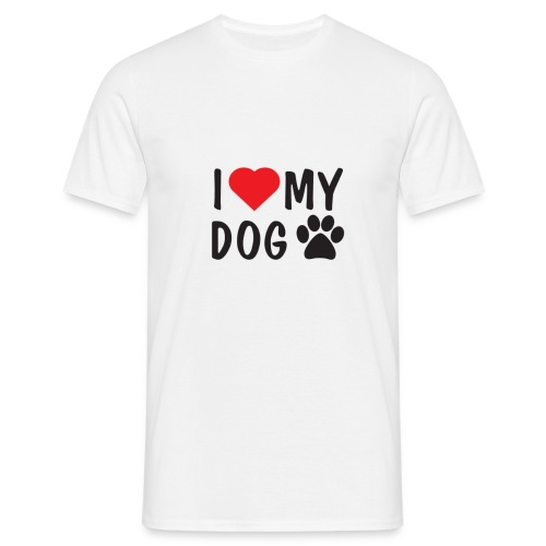 I LOVE MY DOG - Männer T-Shirt