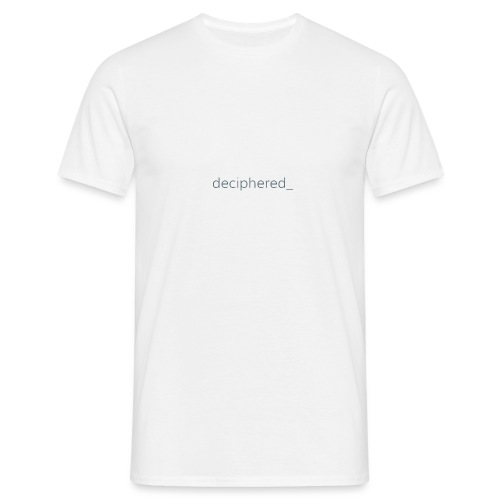 Deciphered_ Logo - Men's T-Shirt