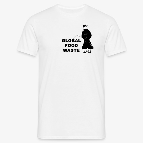 Pissing Man against Global Food Waste - Männer T-Shirt
