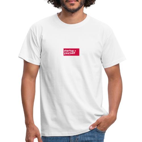 Red White Fashion Logo startup yourself motivation - Männer T-Shirt