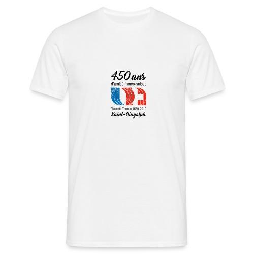 Logo 450 ans d'amitié franco-suisse Saint-Gingolph - T-shirt Homme