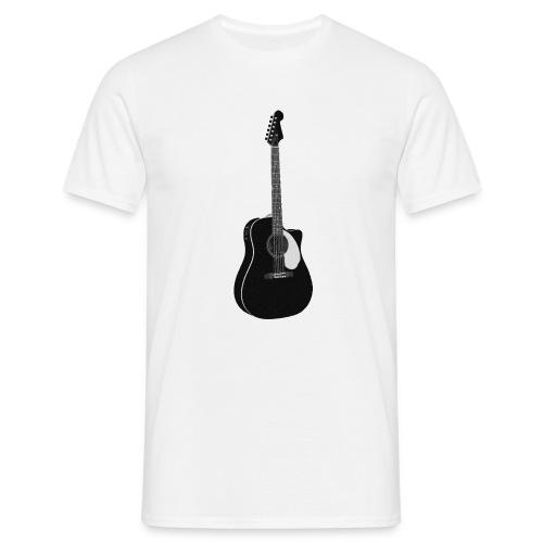 black guitar - T-shirt herr