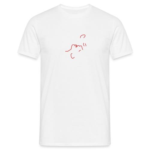 'I am here' (pocket) - Men's T-Shirt