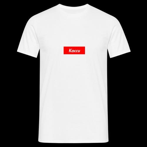 Kaccu box logo - Miesten t-paita