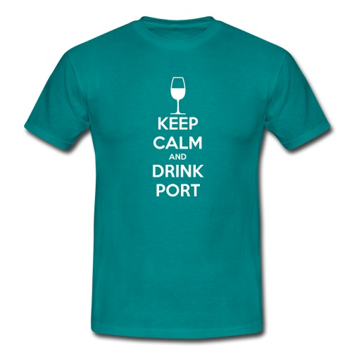 Keep Calm and Drink Port - Men's T-Shirt